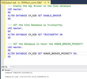 Configure option on database