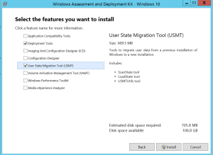 Install ADK features