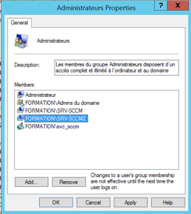 Add Site Server Passive account on Administrator group of active server.