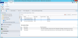 The site server has been added on sccm console