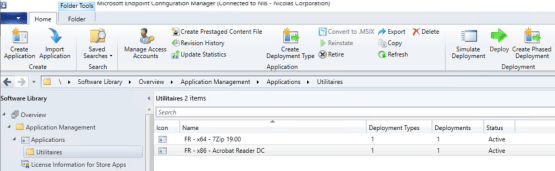 Application groups - Applications on SCCM