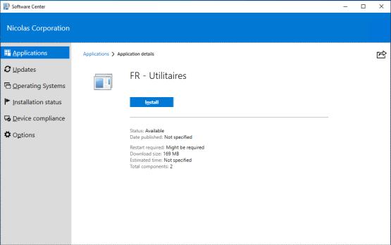 Install applications