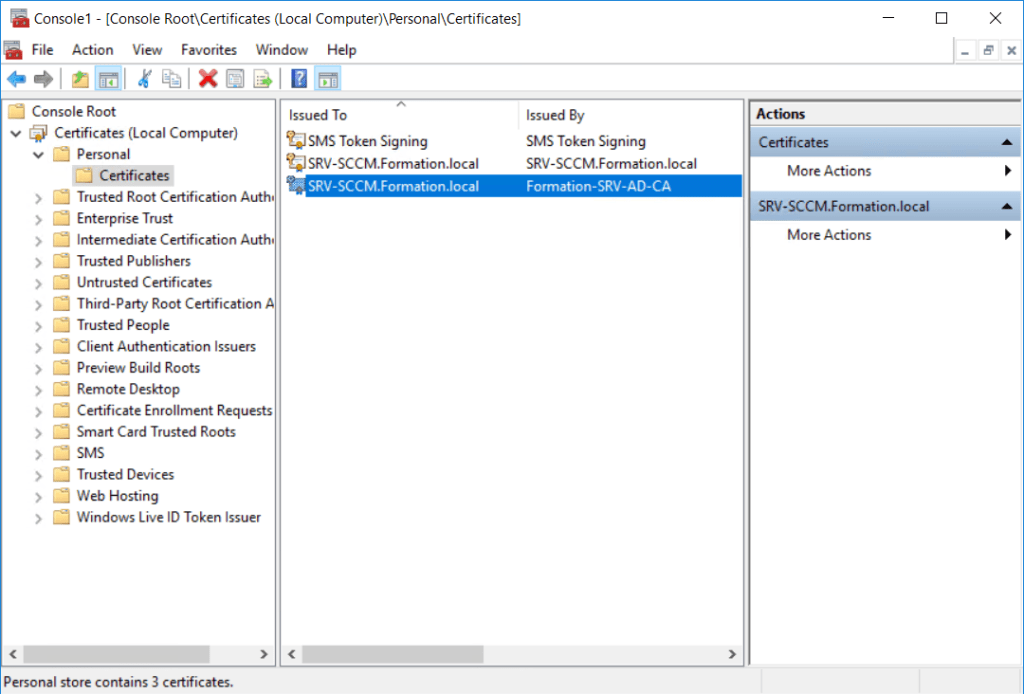 Using MBAM with SCCM - Manage Template certificate - Configure Auto-Enrollment