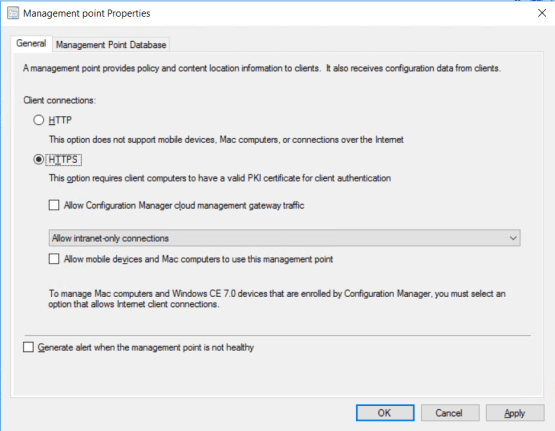 Configure Management Point