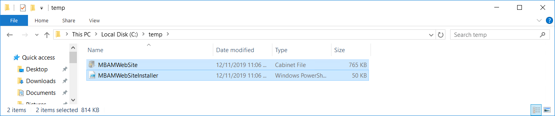 Script for install folder