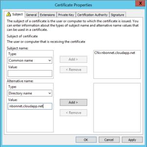 Configure Cloud Management Gateway Enter name