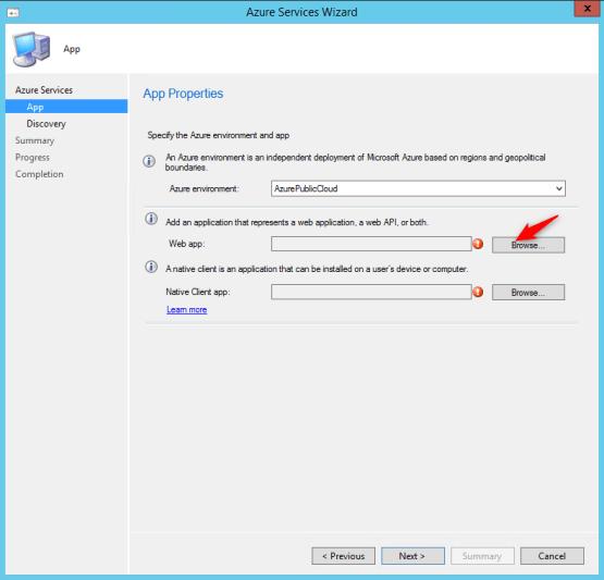 Select Cloud Management Gateway