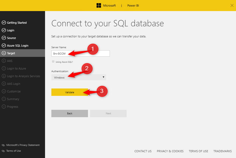 Connect SQL Database to Power BI