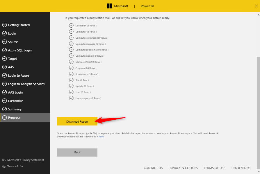 Download power bi report