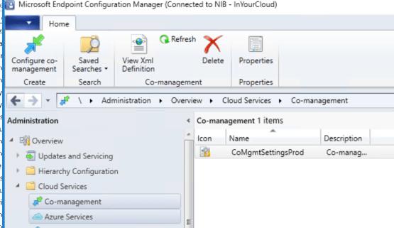 Co-Management has been configured