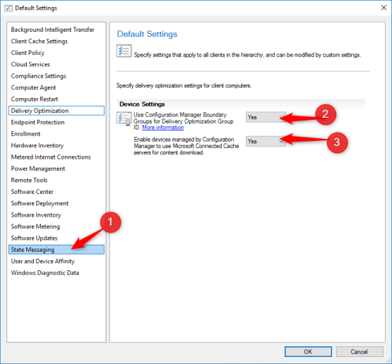 Microsoft Connected Cache - Configure client settings
