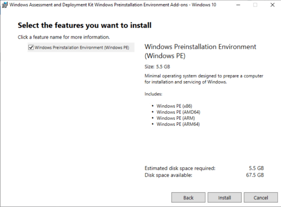 Install WinPE