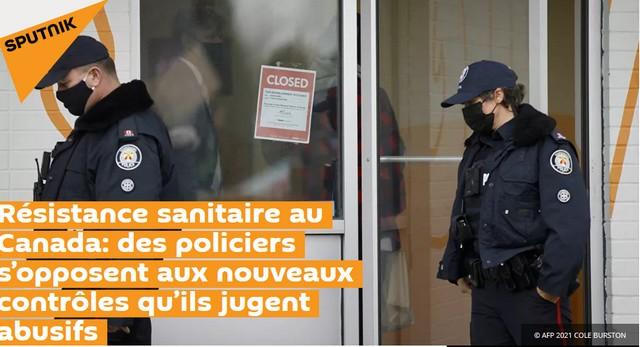 Résistance sanitaire - Police Canada