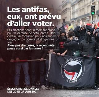 Antifas - Affiche -Aller voter