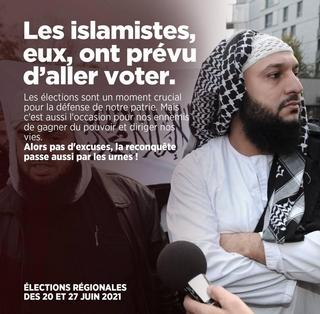Islamistes - Affiche -Aller voter
