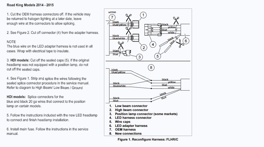 H4 Headlight Socket Wiring Diagram Harley Davidson Wire Harness Led Daymaker Headlight