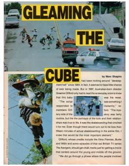 Thrasher mag Gleaming the Cube review article