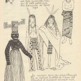 bw world folk costume vintage