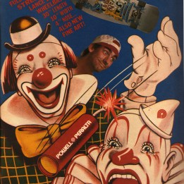 lance mountain clowns ad Powell Peralta. Stecyk genius
