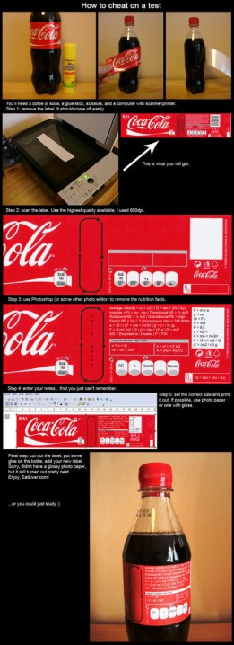 informational info life hacks cola bottle label cheat (7)