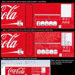 informational info life hacks cola bottle label cheat (7)