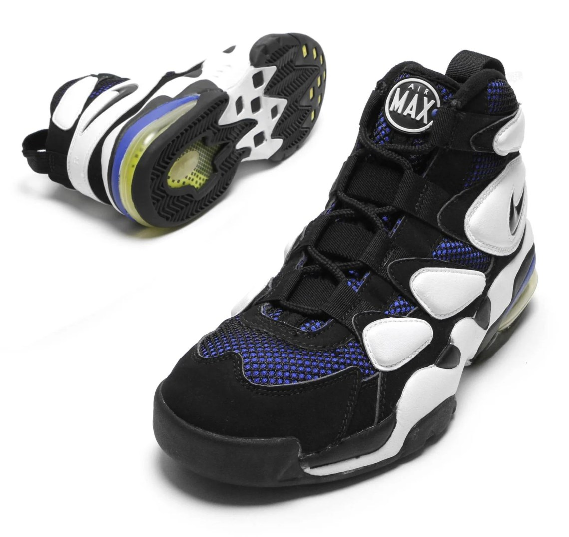 100% authentic 226a9 cdb2e ... a symbiotic relationship which forever fused sport and fashion  the 1995  Nike Air Max2 Uptempo, sneaker of choice of the Duke University Blue Devils.