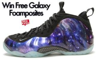 "half off 0438d e7f54 Win a Pair of Nike ""Galaxy"" Foamposites"