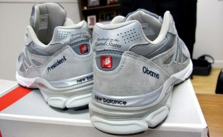 """8403e2c2225 Customized New Balance 990 """"Made in the USA"""" for President Obama"""