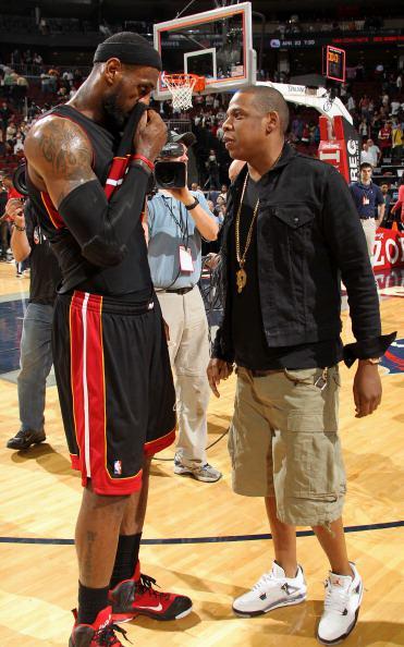 46bcbf5ff2bf4c ... Jay-Z in the Air Jordan 4
