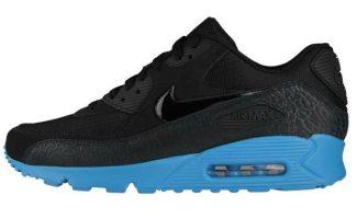 """0dbc2fe47fbb Nike Air Max 90 """"Elephant Print"""" Black Blue Glow"""