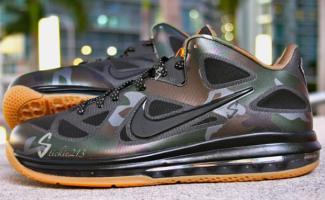 "online store 3c32e 245e1 Nike LeBron 9 Low ""Camo"" Sample"