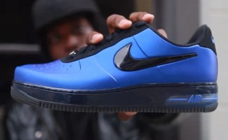 "a58e3786ea4 Live Look  Nike Air Force 1 Foamposite Pro Low ""Game Royal"""