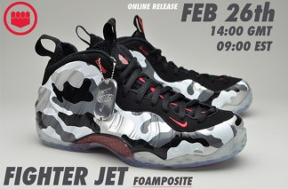"""finest selection 71b74 31a78 Nike Air Foamposite One """"Fighter Jet"""" to Restock at Sole Heaven"""