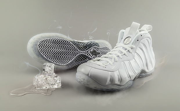 """Weekly Wallpaper: Nike Air Foamposite One """"All White"""""""
