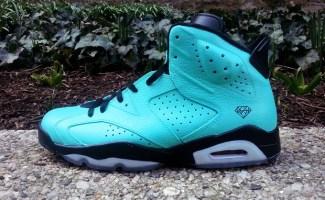 """Air Jordan 6 """"Tiffany"""" Custom"""