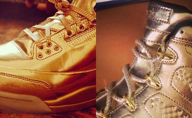 9a95d3d17cbafa ... Usher Reveals All-Gold Air Jordan 3 Air Jordan 9 Nice Kick ...