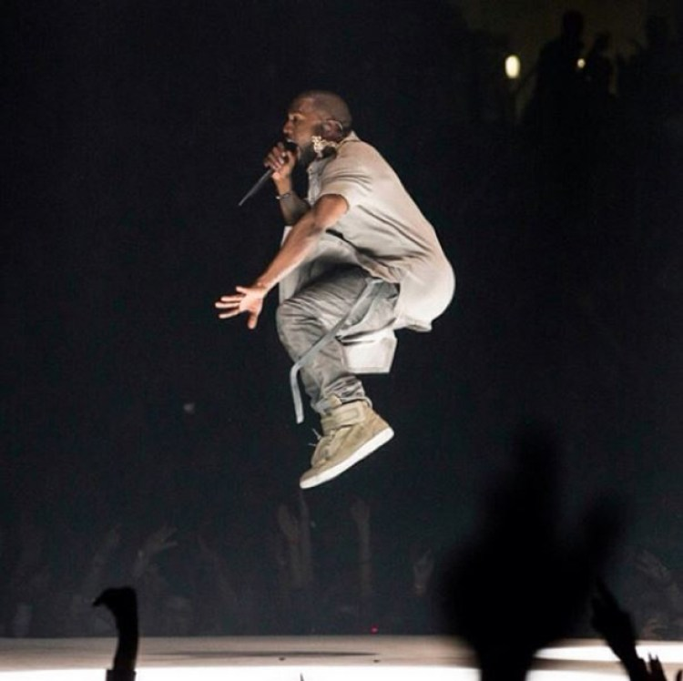 Kanye West in the Maison Margiela Future High Top