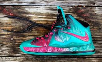 Nike LeBron X Zombie in South Beach Custom