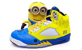 "c9286e1513e108 Air Jordan 5 ""Air Minion"" Custom"