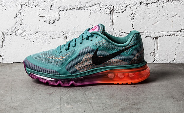 Nike WMNS Air Max 2014 Atomic OrangeForest Green | Nice Kicks
