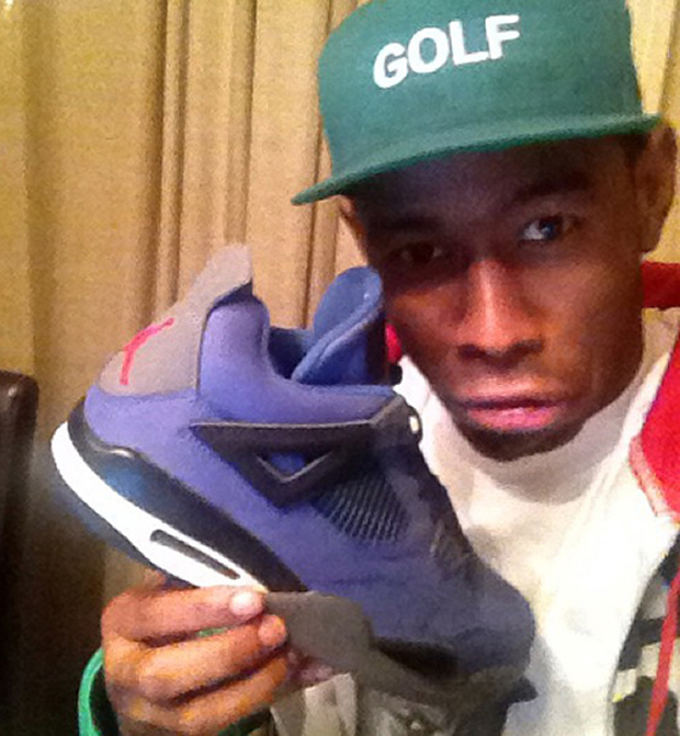 Tyler the Creator with the Air Jordan 4 Eminem