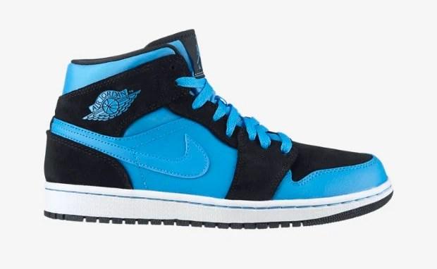 Parcourir réduction Air Jordan 1 Mid Noir Foncé Poudre Blanc Bleu jeu exclusif pas cher ebay abordable Livraison gratuite Finishline wY9BI
