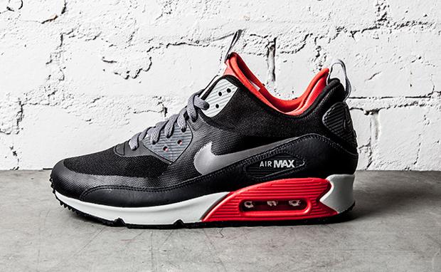 Nike Air Max 90 SneakerBoot BlackLight Crimson | Nice Kicks
