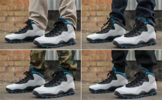 """8fc7ba4692e9 On-Foot Look  Air Jordan 10 """"Powder Blue"""""""