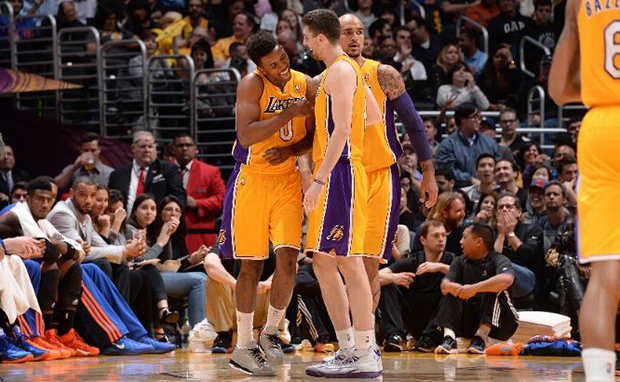 "promo code a4865 0b02c Kicks On Court  Nick Young Stays Flashy in ""5Lab3"" Jordan 3s"