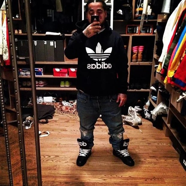A$AP Yams in the Jeremy Scott x adidas Instinct