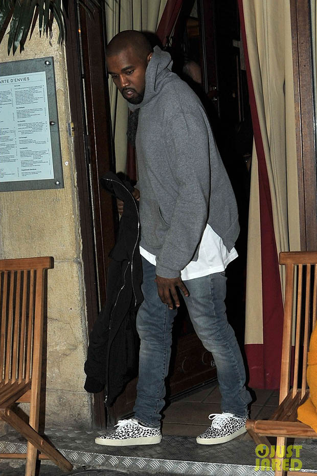 Kanye West in the Saint Laurent Sneakers