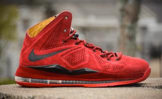 "5601b86906a Nike LeBron X EXT ""BloodLust"" Custom"