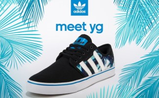 "d657efe44eb Meet YG at Shiekh Shoes  adidas Seeley ""Palm"" Launch"