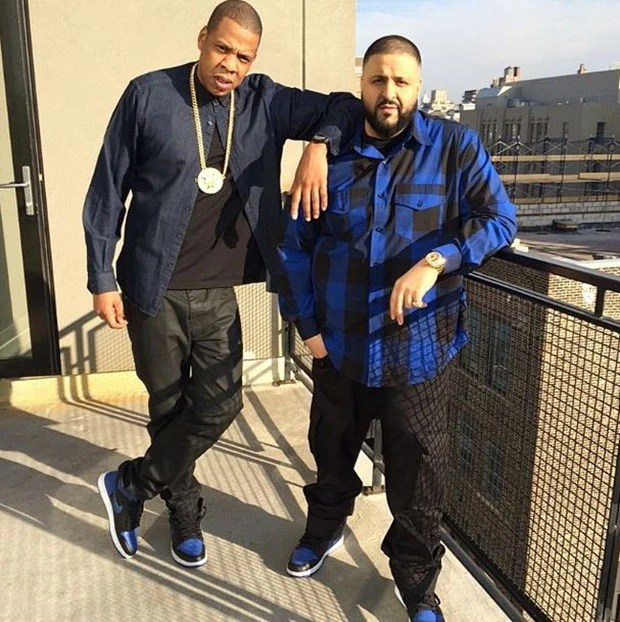 ... Jay-Z and DJ Khaled in the Air Jordan 1